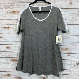 LuLaRoe Perfect T Medium Gray Baseball NWT